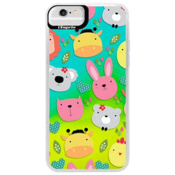 Neonové pouzdro Blue iSaprio - Animals 01 - iPhone 6 Plus/6S Plus