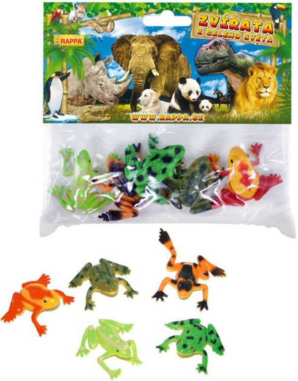 Žabka sada 5ks plastové zvířátko v sáčku