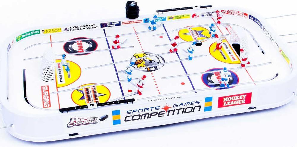 HRA Hokej stolní 96x58x12cm kovová táhla bez počítadla v krabici