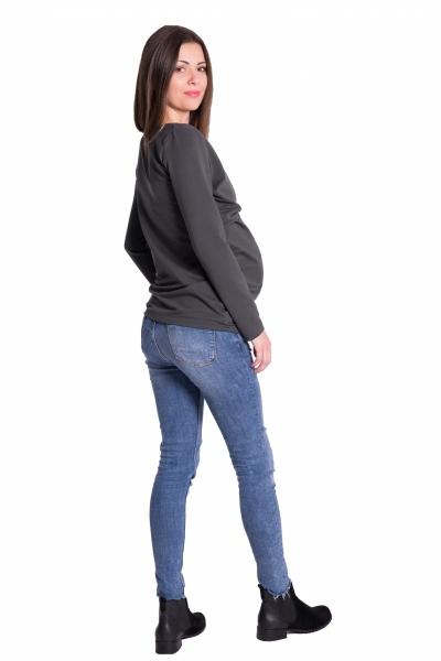 be-maamaa-zavinovaci-tehotenske-triko-tunika-grafit-xs-32-34
