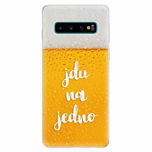 Silikonové pouzdro iSaprio - Jdu na jedno - Samsung Galaxy S10
