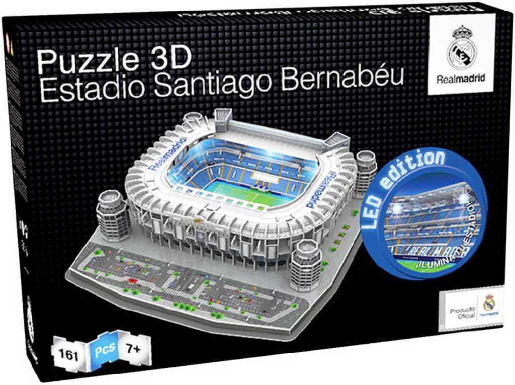 NANOSTAD 3D Puzzle model fotbalový stadion Real Madrid 161 dílků na baterie Světlo