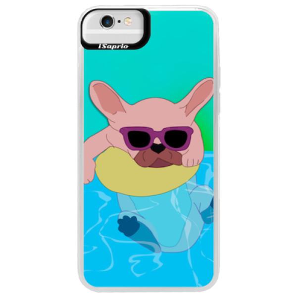 Neonové pouzdro Blue iSaprio - Swimming Dog - iPhone 6 Plus/6S Plus