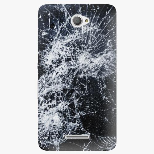 Plastový kryt iSaprio - Cracked - Sony Xperia E4