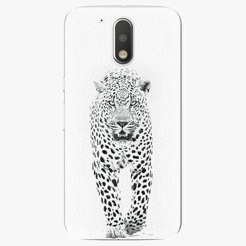 Plastový kryt iSaprio - White Jaguar - Lenovo Moto G4 / G4 Plus
