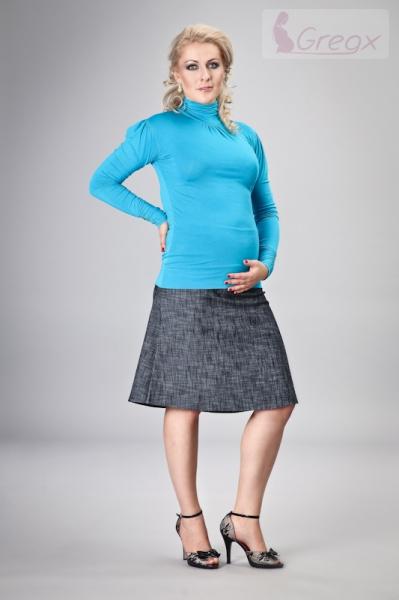 Elegantní těhotenská sukně DENIM - granát - XXL