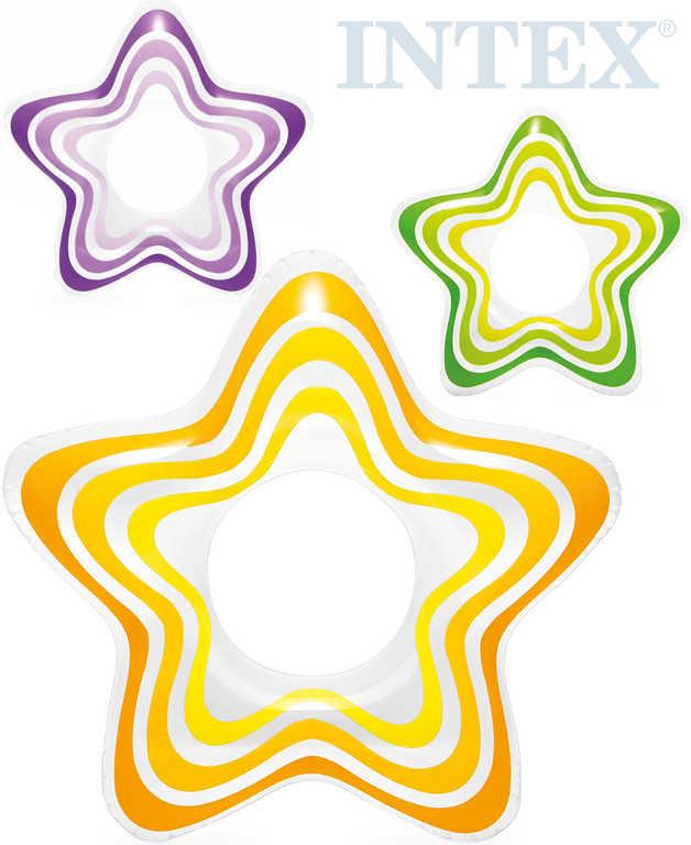 INTEX Kruh plavací hvězda 74cm nafukovací dětské kolo do vody 3 barvy