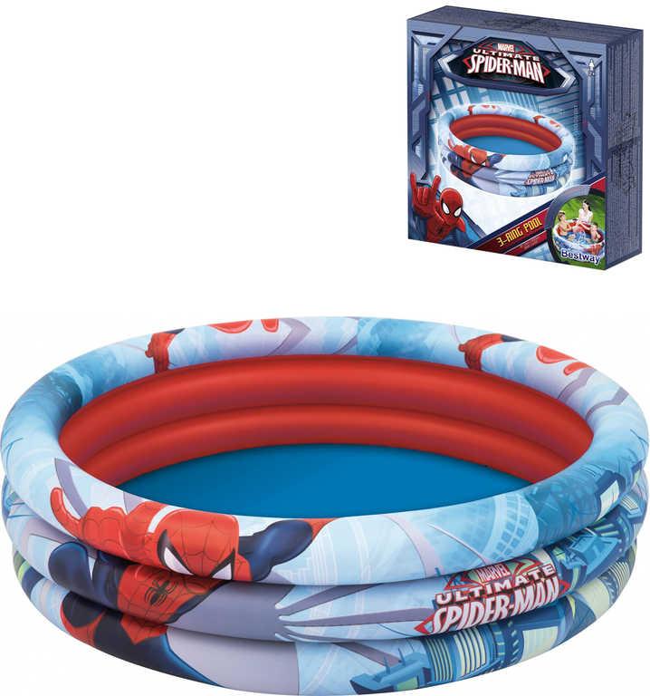 BESTWAY Baby bazén nafukovací kruhový Spiderman 122x30cm 98018