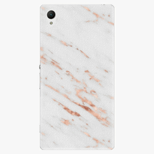 Plastový kryt iSaprio - Rose Gold Marble - Sony Xperia Z1