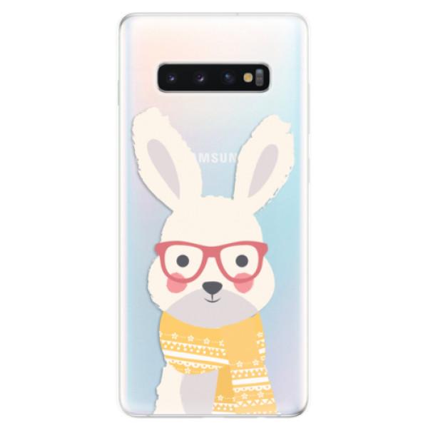 Odolné silikonové pouzdro iSaprio - Smart Rabbit - Samsung Galaxy S10+