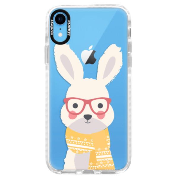 Silikonové pouzdro Bumper iSaprio - Smart Rabbit - iPhone XR