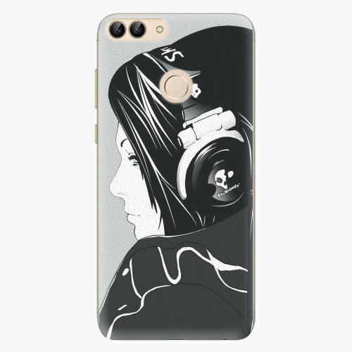 Silikonové pouzdro iSaprio - Headphones - Huawei P Smart