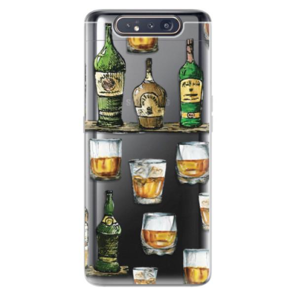 Odolné silikonové pouzdro iSaprio - Whisky pattern - Samsung Galaxy A80