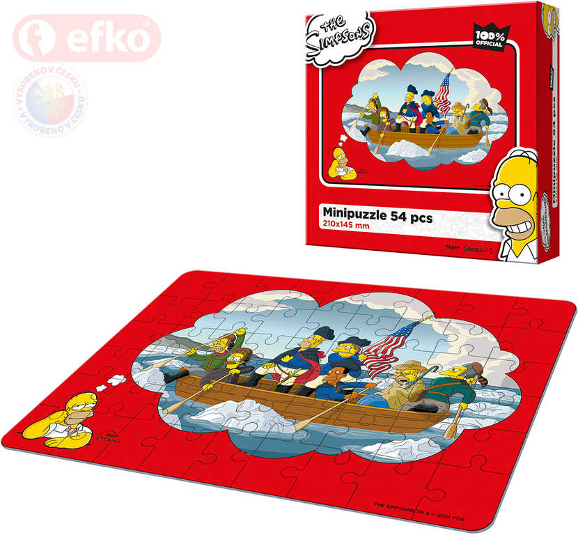 EFKO Puzzle The Simpsons Pánská jízda skládačka 21x15cm 54 dílků v krabici