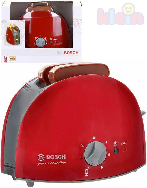 KLEIN Toaster dětský Bosch plastový set se 2 topinkami