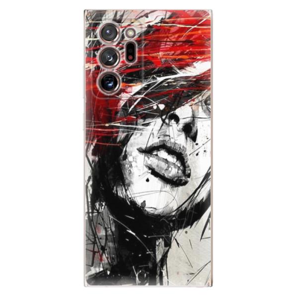 Odolné silikonové pouzdro iSaprio - Sketch Face - Samsung Galaxy Note 20 Ultra