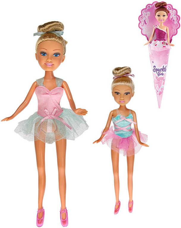Sparkle Girlz panenka baletka 28cm dlouhé vlasy v kornoutu - 4 druhy