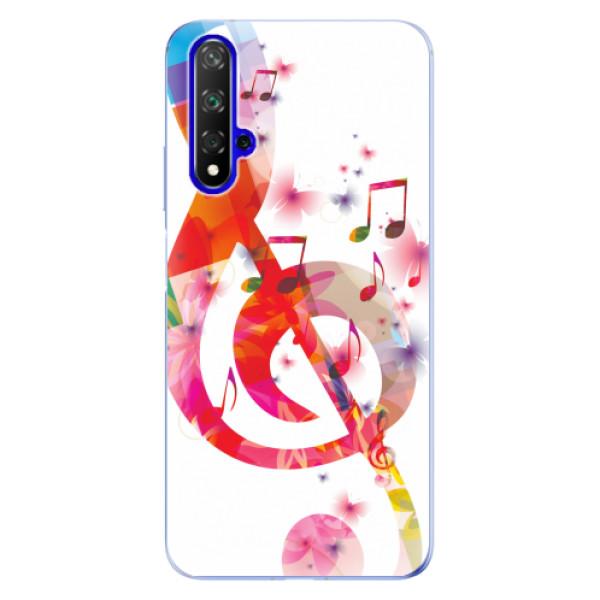 Odolné silikonové pouzdro iSaprio - Love Music - Huawei Honor 20