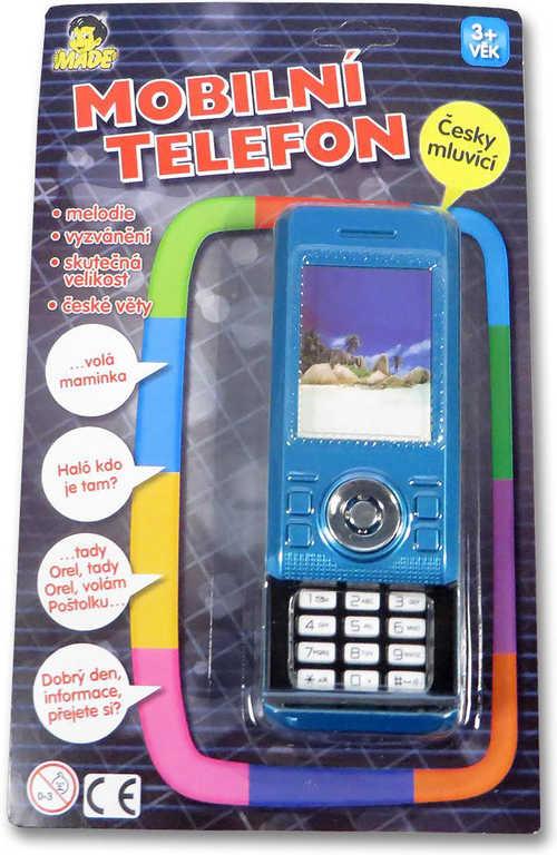 Telefon dětský mobilní 3D vysouvací skutečná velikost na baterie plastový CZ Zvu