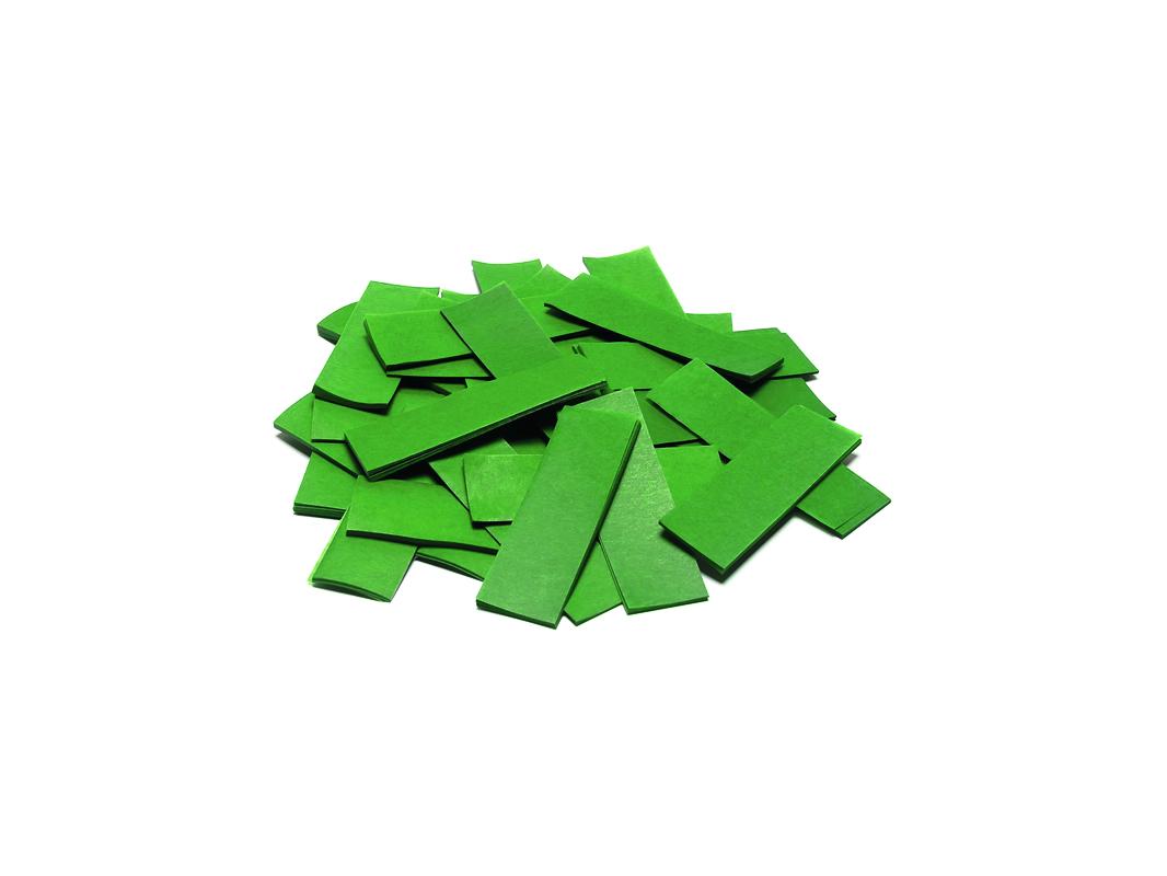 Tcm Fx pomalu padající obdélníkové konfety 55x18mm, tmavě zelené, 1kg