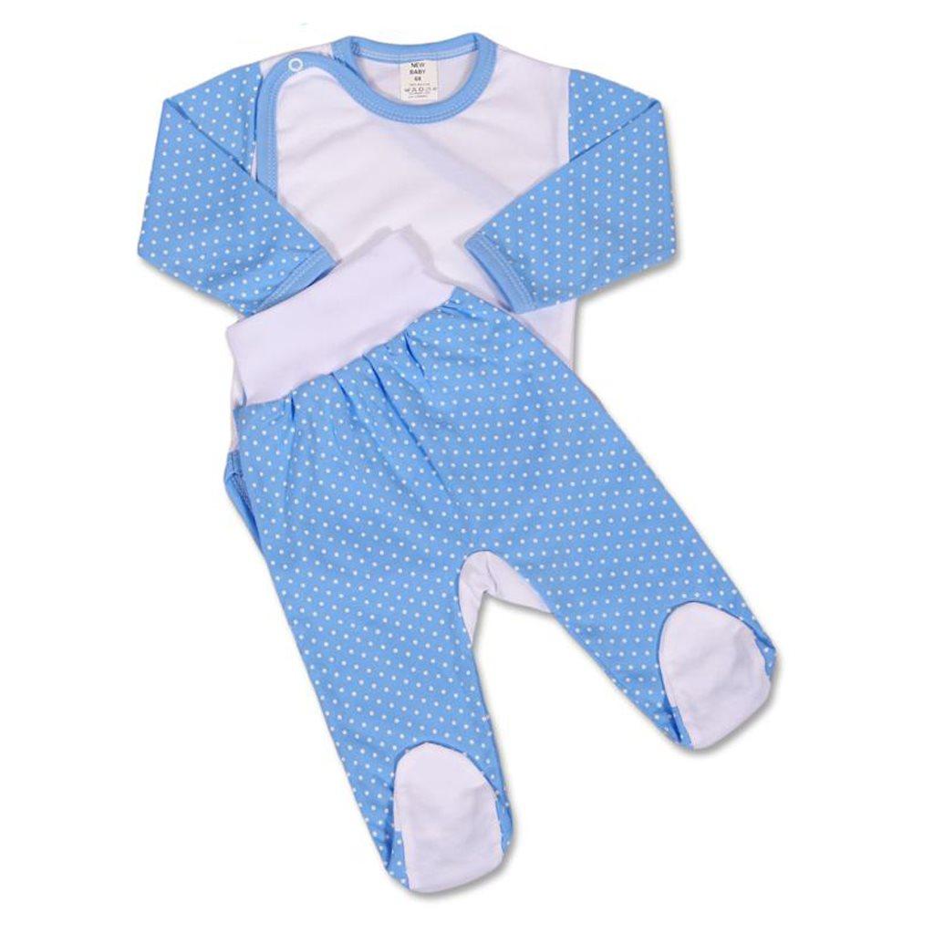 2-dílná souprava New Baby Puntík - modrá/56 (0-3m)