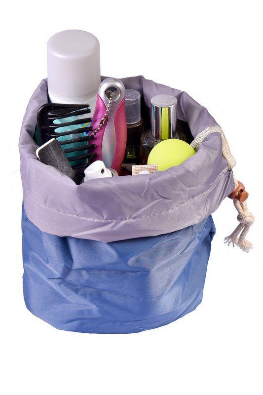 Cestovní taška na kosmetiku - modrá