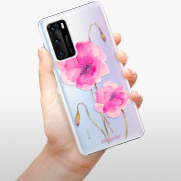 Plastové pouzdro iSaprio - Poppies 02 - Huawei P40