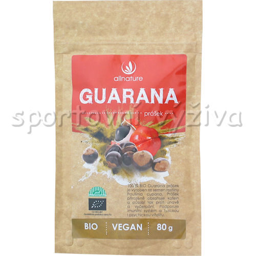Allnature BIO Guarana prášek 80g