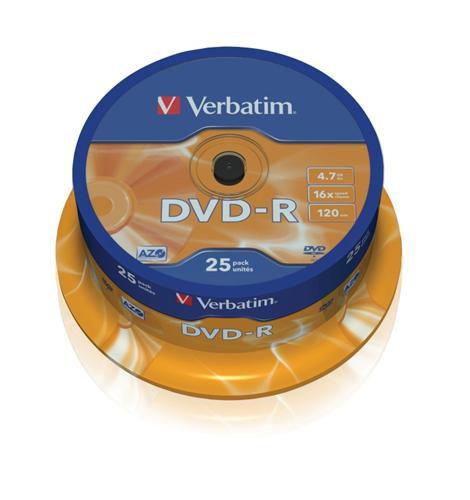 Médium Verbatim DVD-R 4,7GB 16x 25-cake