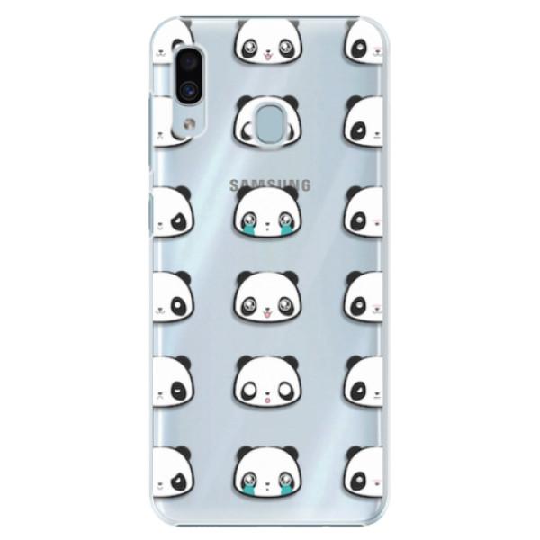 Plastové pouzdro iSaprio - Panda pattern 01 - Samsung Galaxy A20