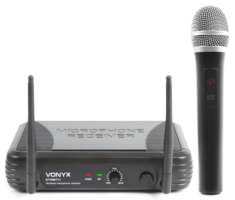 Vonyx VHF mikrofonní set 1 kanálový, 1x ruční mikrofon