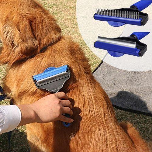 Hrablo pro psy s otočnou hlavou 2v1 - velikost M