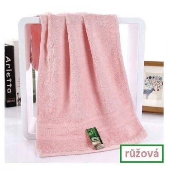 Bambusový ručník - 34 x 75 cm - 1ks - Růžový