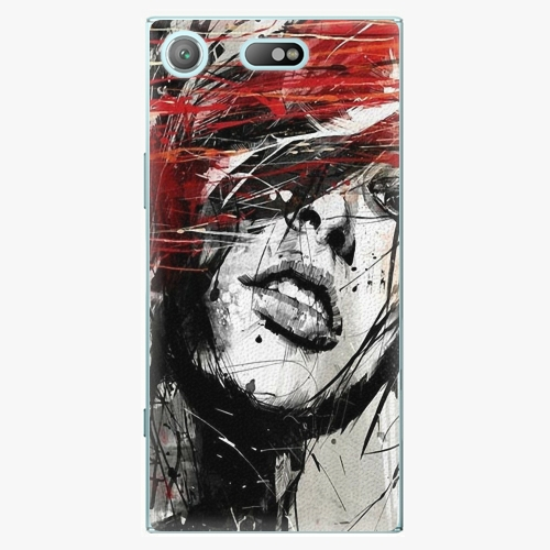 Plastový kryt iSaprio - Sketch Face - Sony Xperia XZ1 Compact