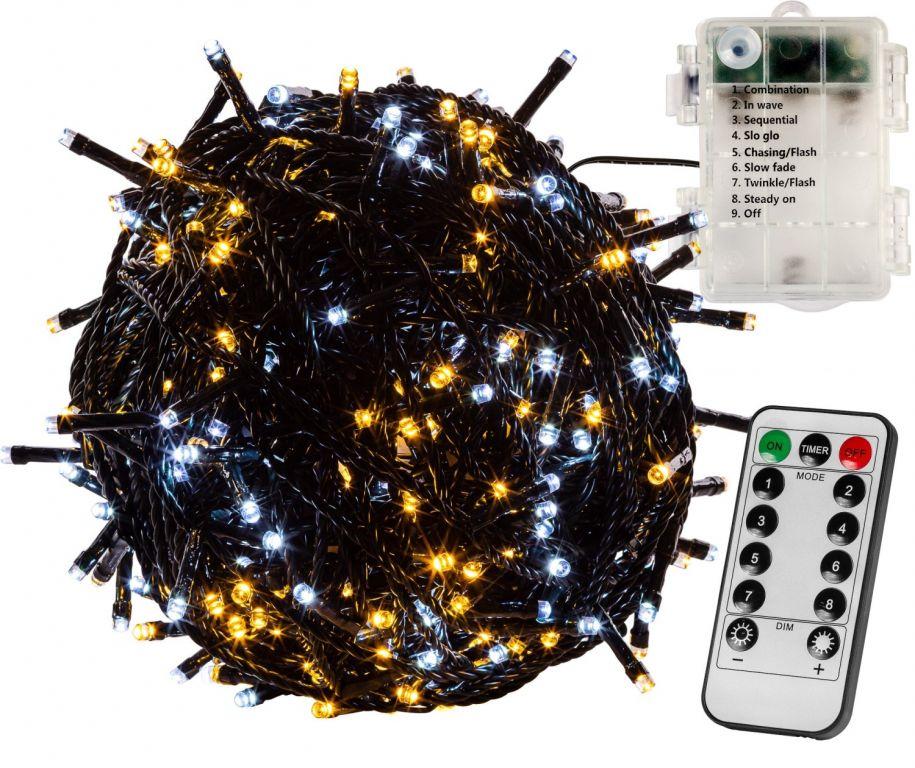 voltronic-vanocni-retez-10-m-100-led-teple-stud-bily-ovladac