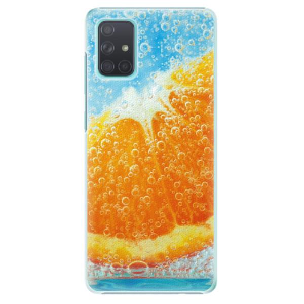 Plastové pouzdro iSaprio - Orange Water - Samsung Galaxy A71