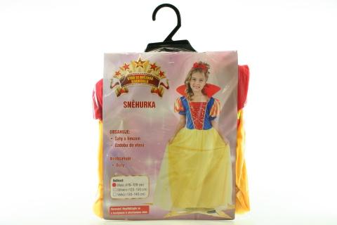 Šaty na karneval - Sněhurka, 110-120 cm