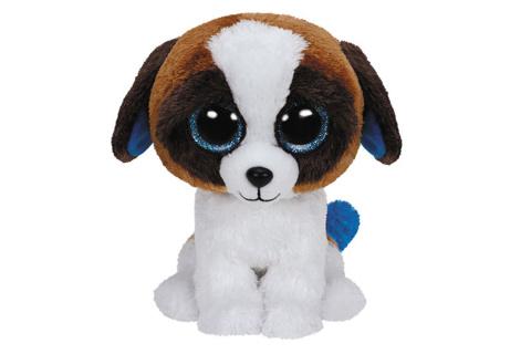 Beanie Boos DUKE 15 cm - hnědobílý pes