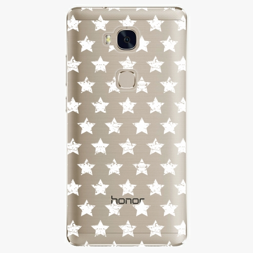 Plastový kryt iSaprio - Stars Pattern - white - Huawei Honor 5X