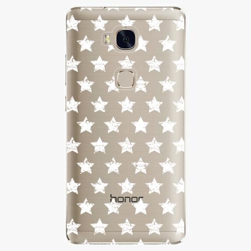 Plastový kryt iSaprio - Stars Pattern - white - Huawei Honor 5X