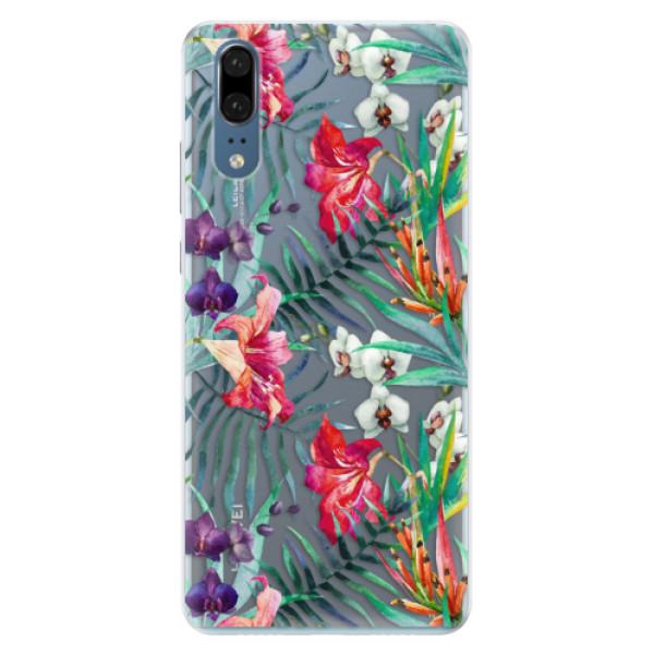 Silikonové pouzdro iSaprio - Flower Pattern 03 - Huawei P20