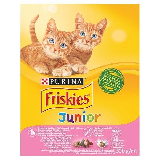 Junior granule pro kočky s kuřetem, se zeleninou a s mlékem 300 g