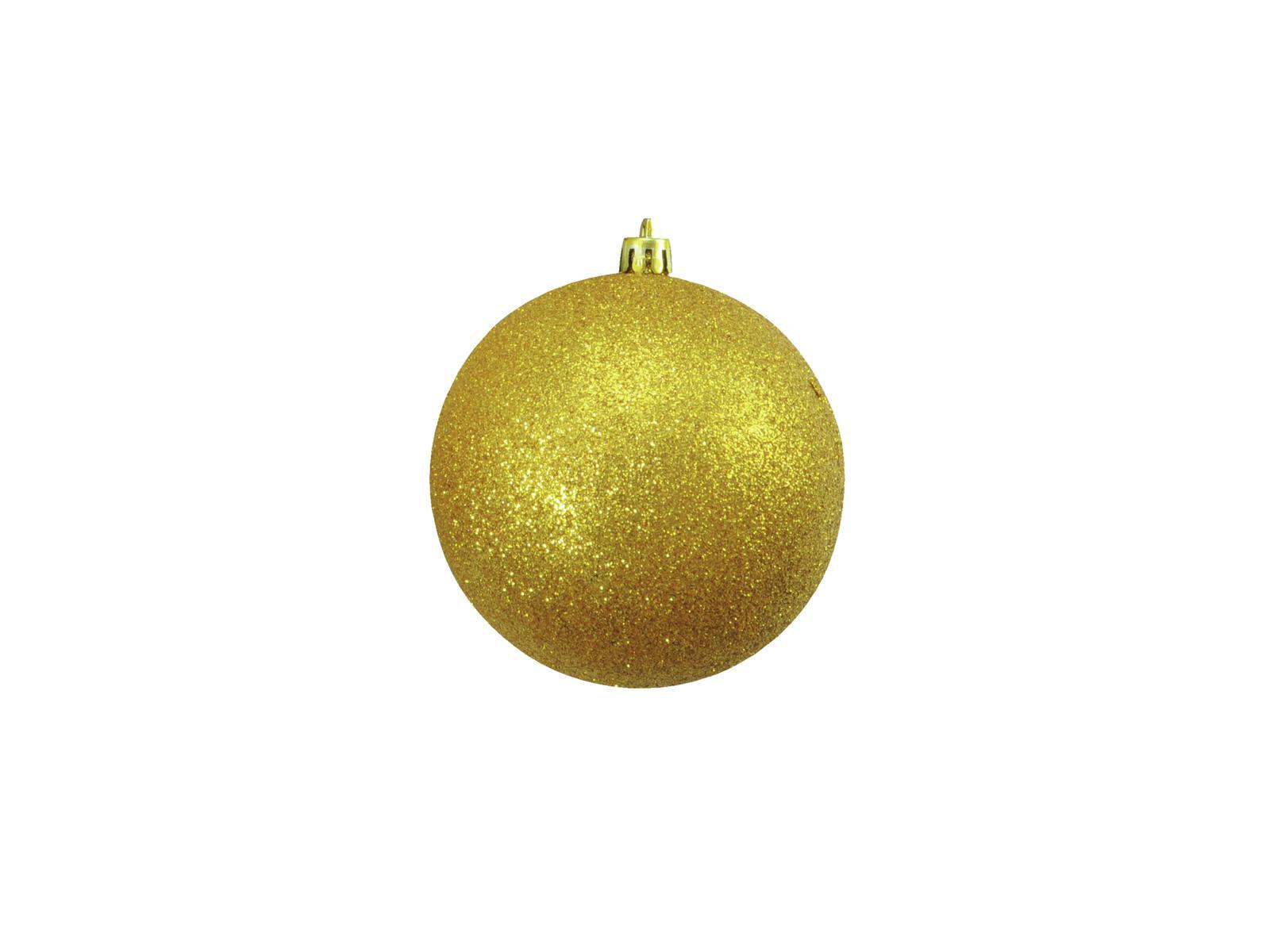 Vánoční dekorační ozdoby, 10 cm, zlaté se třpytkami, 4 ks