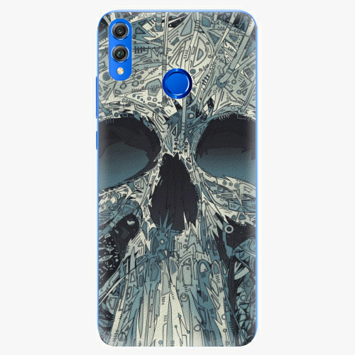 Silikonové pouzdro iSaprio - Abstract Skull - Huawei Honor 8X