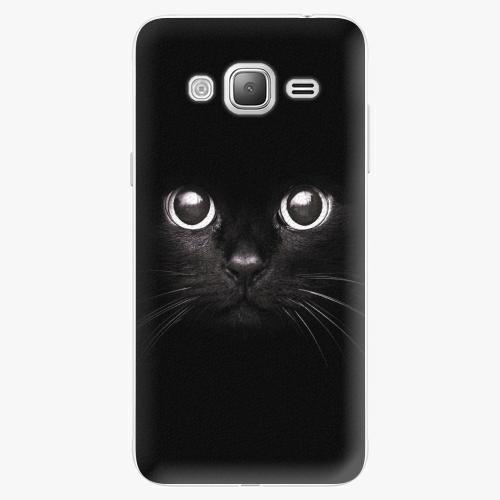 Plastový kryt iSaprio - Black Cat - Samsung Galaxy J3 2016