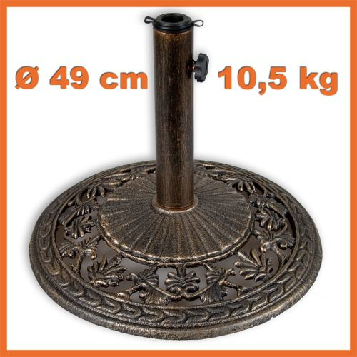 Stojan na slunečníky 10,5 kg bronz