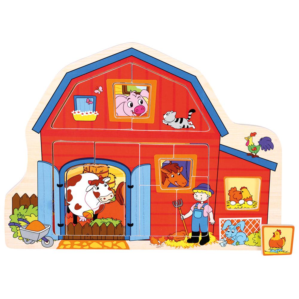 Puzzle/vkládačka farma