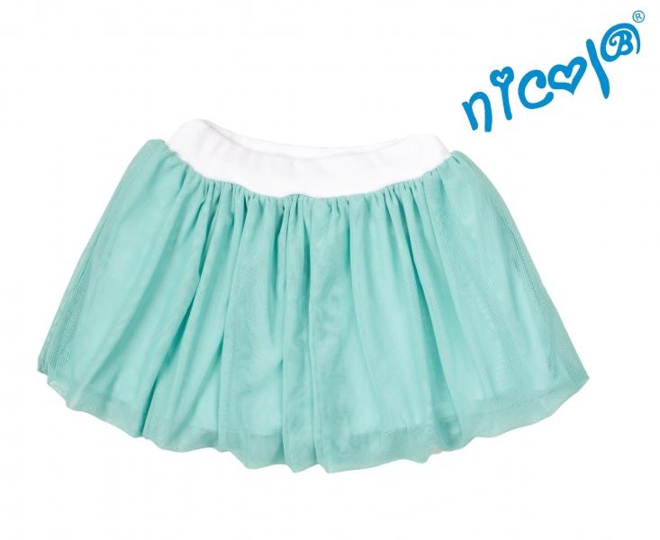 Dětská sukně Nicol,Mořská víla - zelená vel.