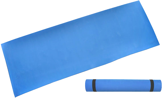 ACRA Podložka modrá gymnastická pěnová 173x61cm na cvičení fitness