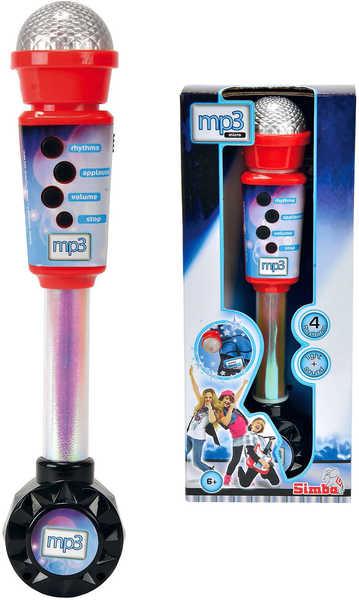 SIMBA Mikrofon a reproduktor dětský elektronický na baterie 30 cm mp3 vstup 2v1